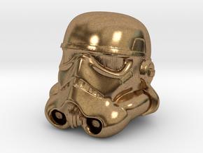 Storm Trooper Helmet  in Natural Brass