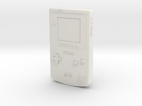 1:6 Nintendo Game Boy Color (Teal) in White Natural Versatile Plastic