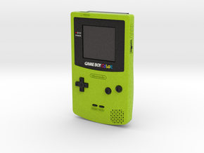 1:6 Nintendo Game Boy Color (Kiwi) in Full Color Sandstone