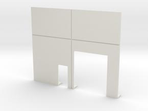 Roll Door & Personnel Door in White Natural Versatile Plastic