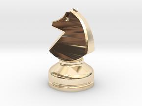 MILOSAURUS Chess MINI Staunton Knight in 14k Gold Plated Brass