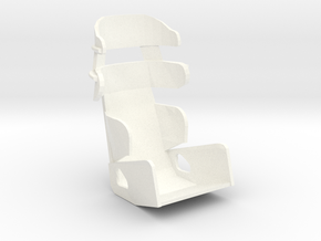 1/24th RACING CONTAINMENT SEAT in White Processed Versatile Plastic