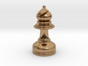 MILOSAURUS Chess MINI Staunton Bishop in Polished Brass