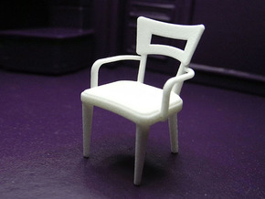 1:24 Dog Bone Chair with Arms in White Natural Versatile Plastic
