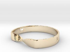 MILOSAURUS Jewelry Mobius Strip Pendant in 14K Yellow Gold