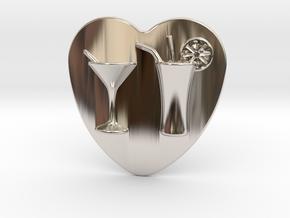 Cocktail Belt Buckle in Rhodium Plated Brass