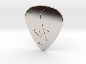 Treble Clef Plectrum - 1.5mm in Platinum