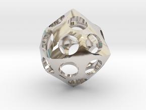 Deltoidal Icositetrahedron Roller in Platinum