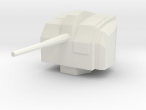 1/144 Scale IJN 10 Cm Single Gun WW2 in White Natural Versatile Plastic