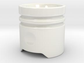 Piston Cup v1.1 - 2 in Gloss White Porcelain