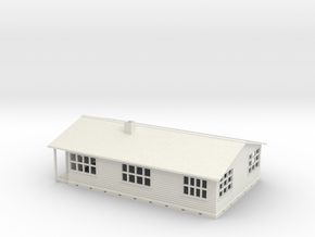 1:120 weatherboard house in White Natural Versatile Plastic