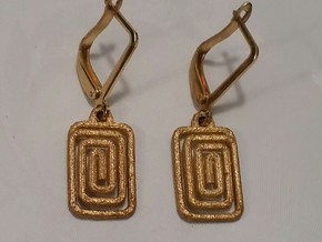 ANNE EARRING  in Polished Gold Steel