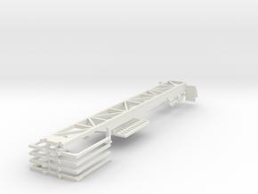 000431 Looger Trailer in White Natural Versatile Plastic: 1:87 - HO