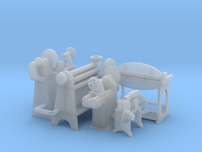 Small Metal Working Machines OO Scale in Smooth Fine Detail Plastic