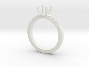 Engagement ring in White Strong & Flexible