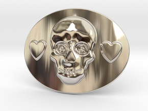 Mexico Belt Buckle in Rhodium Plated Brass
