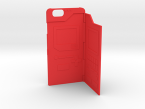 iphone 6 Pokedex case aka iphonedex in Red Processed Versatile Plastic