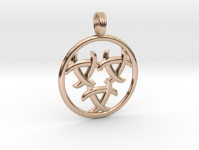 GNOSTIC RELEASE in 14k Rose Gold Plated Brass