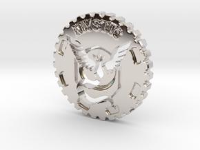 Pokemon Go Team Mystic Challenge Coin in Rhodium Plated Brass