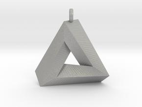 Penrose Triangle - Pendant (3cm   2.5mm O-Ring) in Aluminum