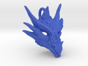 Plastic Umbral Dragon Pendant in Blue Processed Versatile Plastic