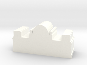 Game Piece, German Reichstag in White Processed Versatile Plastic