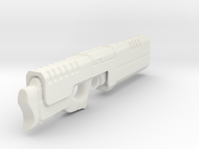 Railgun 1/6th Scale Folded - 5.5inches long in White Natural Versatile Plastic