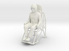 John P. Stapp / Rocket Sled Man in White Strong & Flexible: 1:12