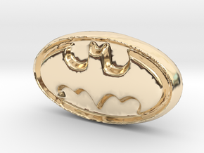 gold  batman logo/symbol in 14K Yellow Gold