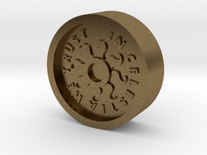 Brony Bit Coin in Natural Bronze