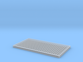 7mm Sleeper Plates C100 Rail X 500 in Smooth Fine Detail Plastic