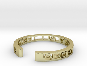 Aboriginal All The Time Bracelet in 18k Gold Plated Brass