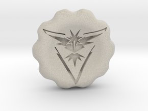 Team Instinct Badge/Coin in Natural Sandstone