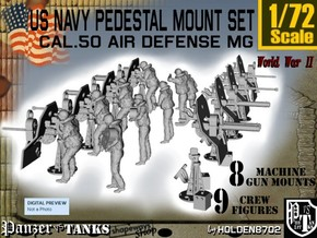1/72 US Navy  AA M Gun Pedestal Mount in Frosted Ultra Detail