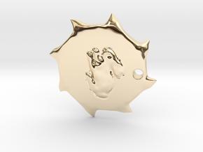 PendantPrint in 14k Gold Plated Brass