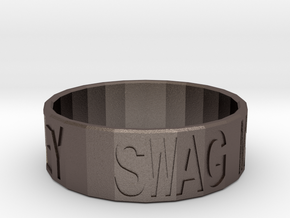 """Swag Money"" Ring, 24mm diameter in Polished Bronzed Silver Steel"