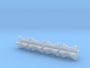 1/24 3 Inch Muffler Clamps in Smoothest Fine Detail Plastic