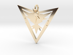 Pokémon Go Team Instinct Pendant in 14k Gold Plated Brass
