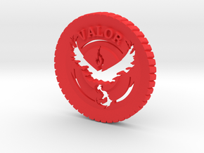 Pokemon Go Team Valor Challenge Coin in Red Strong & Flexible Polished