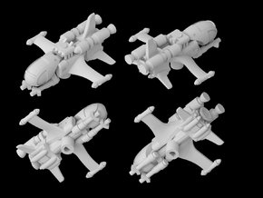 IRD-A starfighter (1/270) in White Natural Versatile Plastic