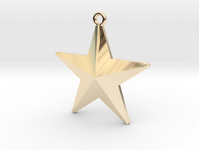 Christmas Tree Star in 14k Gold Plated Brass