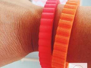 Ingranaggi Bangle - 1cm Thick in Red Processed Versatile Plastic