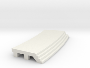 Curved Outside Platform - No Shelter in White Natural Versatile Plastic