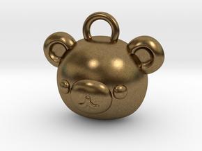 CUTEY BEAR PENDANT in Natural Bronze