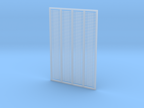 HO Fishplates - 4 Hole X 200 in Smooth Fine Detail Plastic