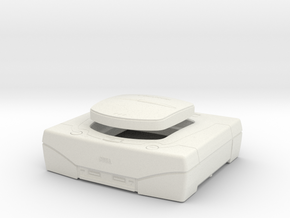 1:6 Sega Saturn (White) in White Natural Versatile Plastic
