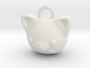CUTEY KITTY PENDANT in White Natural Versatile Plastic