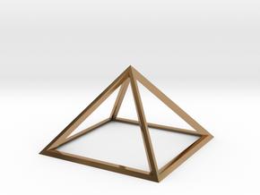 Giza Pyramid in Polished Brass