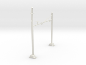 PRR CATENARY HO SCALE 2TRK CURVED STEADY in White Natural Versatile Plastic
