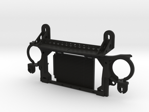 AJ30003 Radiator & Body Mount ONLY (Axial SCX10) in Black Strong & Flexible